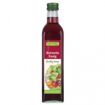 6 x Rapunzel Bio Ocet z červeného vína, 0,5l