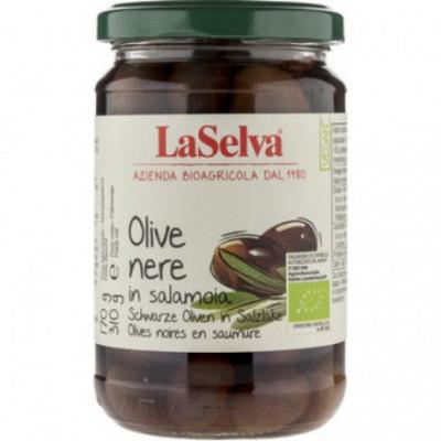 6 x LaSelva Bio Černé olivy v soli, 310g