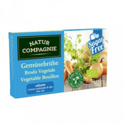 12 x NaturCo Bio Zeleninový bujón méně soli 8ks, 68g