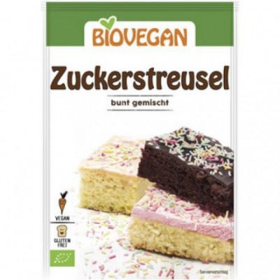 10 x BioVegan Bio Cukrový posyp barevný, 70g