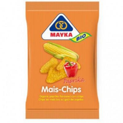 10 x Mayka Bio Kukuřiční chipsy paprikové, 125g