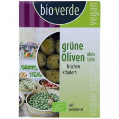 6 x BioVerde Bio Zelené olivy bez pecek, 150g
