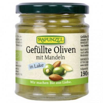 6 x Rapunzel Bio Plněné olivy s mandlemi, 190g