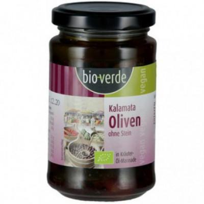 6 x BioVerde Černé olivy Kalamata bez pecek, 200g