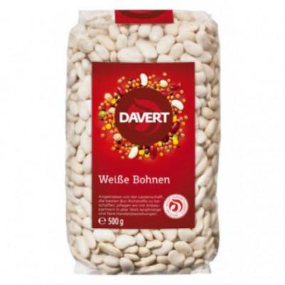 8 x Davert Bio Bílé fazole, 500g