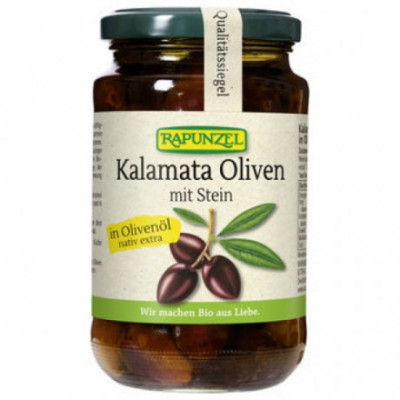 6 x Rapunzel Bio Fialové olivy Kalamata v oleji, 335g