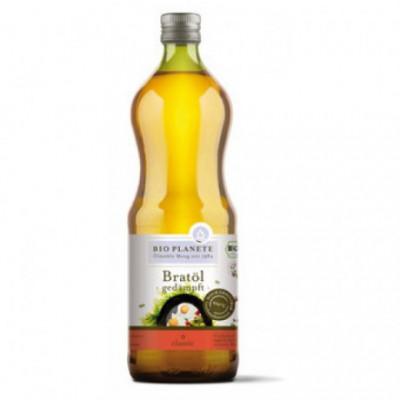 6 x BioPlanete Bio Olej slunečnicový na smažení, 1l
