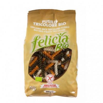 12 x Felicia Bio Vřetena rýžová celozrnná barevná, 500g
