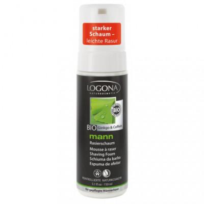 Logona Mann Bio Pěna na holení Ginko & Kofein, 150ml