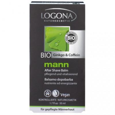 Logona Mann Bio Balzám po holení Ginko & Kofein, 50ml