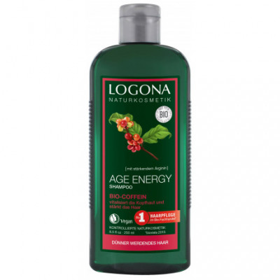 Logona Bio Age Energy Šampon s kofeinem, 250ml