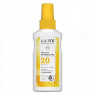 Lavera Bio Opalovací sprej Sensitiv SPF20, 100 ml