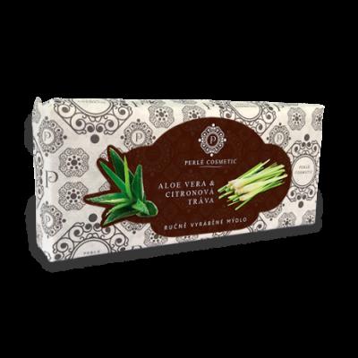 Perlé Cosmetic Aloe vera a citrónová tráva - mýdlo 115g