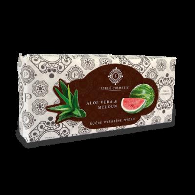 Perlé Cosmetic Aloe vera a meloun - mýdlo 115g