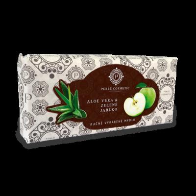 Perlé Cosmetic Aloe vera a zelené jablko - mýdlo 115g