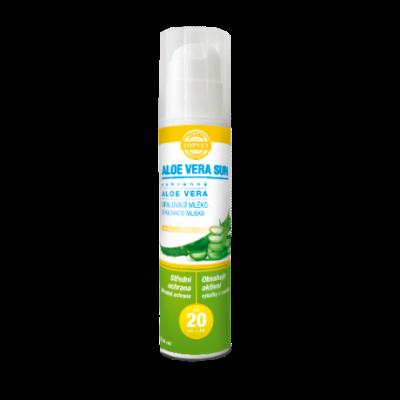 GREEN IDEA Aloe vera opalovací mléko SPF 20 200ml