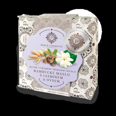 Perlé Cosmetic Bambucké máslo s jasmínem a ovsem - mýdlo...