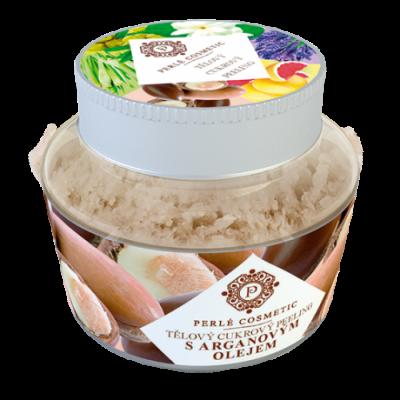 Perlé Cosmetic Cukrový peeling s arganovým olejem 200g
