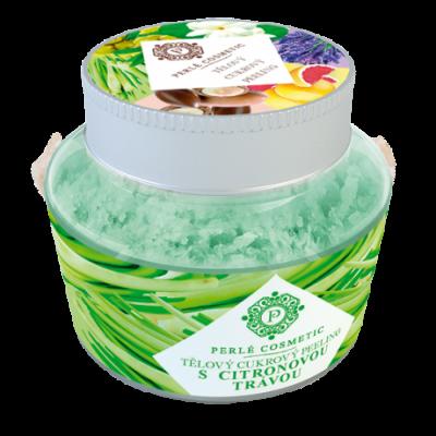 Perlé Cosmetic Cukrový peeling s citronovou trávou 200g