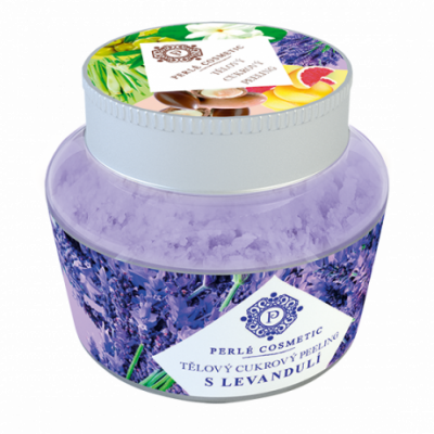 Perlé Cosmetic Cukrový peeling s levandulí 200g
