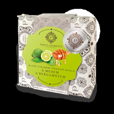 Perlé Cosmetic Mýdlo s medem a bergamotem 115g