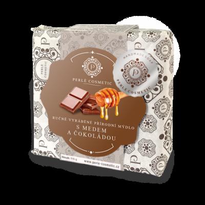 Perlé Cosmetic Mýdlo s medem a čokoládou 115g