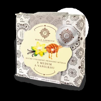 Perlé Cosmetic Mýdlo s medem a vanilkou 115g