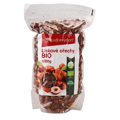 copy of Lískové ořechy neloupané BIO 1000 g Zdravý den