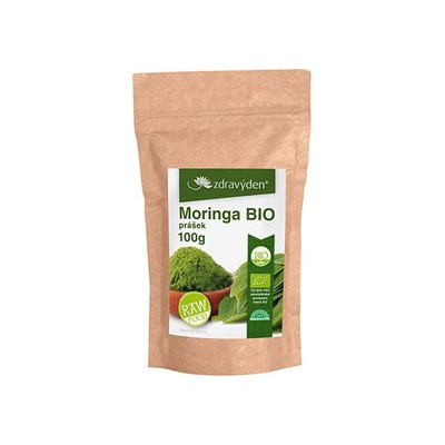 Moringa BIO RAW prášek 100 g Zdravý den AKCE