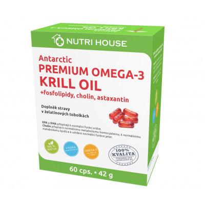 NUTRIHOUSE ANTARCTIC PREMIUM OMEGA-3 KRILL OIL 60 tbl.