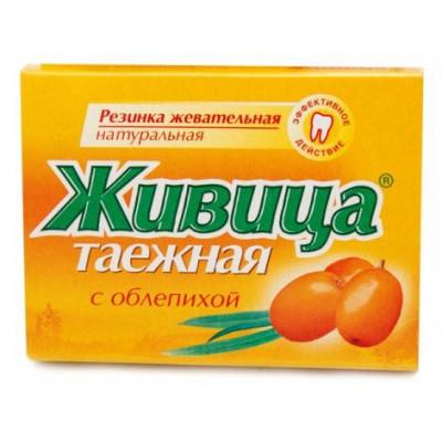 Sibiřská žvýkací pryskyřice s rakytníkem 5 ks