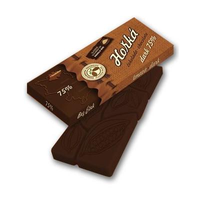 Čokoláda hořká 75% 45 g Čokoládovna Troubelice
