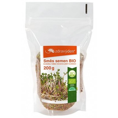 Směs semen na klíčení 2 BIO - brokolice, ředkev červená,...