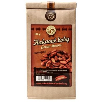 Kakaové boby nepražené 100 g Čokoládovna Troubelice