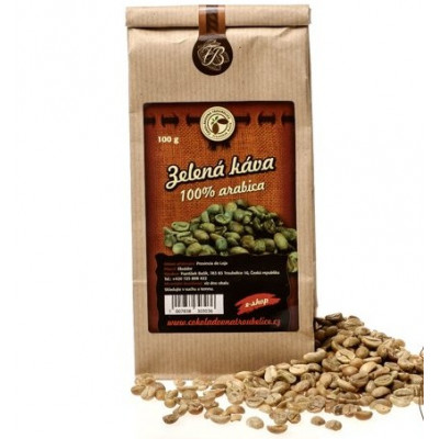 Zelená káva zrnková 100% arabica 200 g