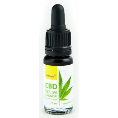 Konopný olej CBD 5 % Wolfberry
