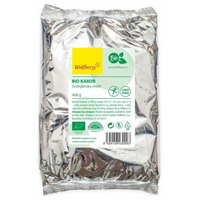Karob - svatojánský chléb BIO 400 g Wolfberry