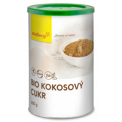 Kokosový cukr BIO v dóze 600 g Wolfberry