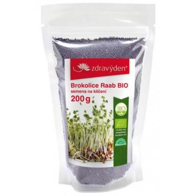 Brokolice Raab BIO - vysoká klíčivost - 200 g Zdravý den