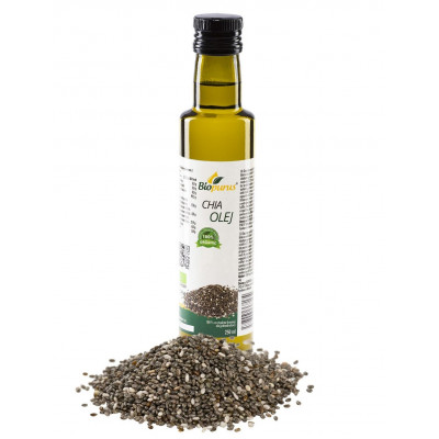 Chia olej 100% panenský BIO 250 ml Biopurus