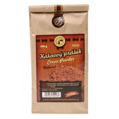 Kakaový prášek 20/22 nepražený - 200 g Čokoládovna...
