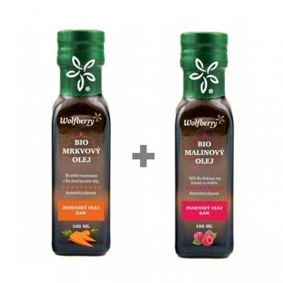 Malinový olej a Mrkvový olej Bio 2 x 100 ml Wolfberry