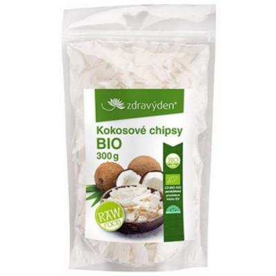 Kokosové chipsy BIO, RAW 300 g Zdravý den