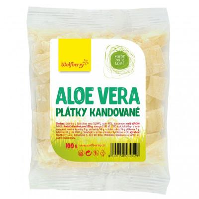 Aloe vera kandované plátky 100 g Wolfberry