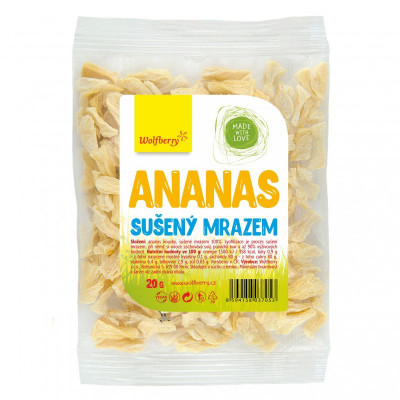 Ananas sušený mrazem 20 g Wolfberry