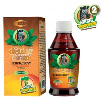 Topvet Safari Echinacea dětský sirup s fruktozou 120 g