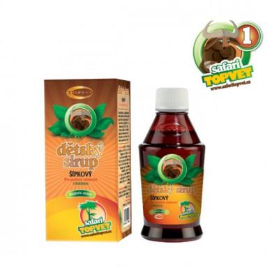 Topvet Safari Šípkový dětský sirup s fruktozou 120 g