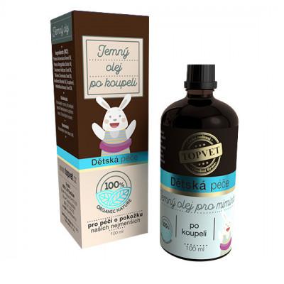 Dětská péče - Jemný olej po koupeli Topvet