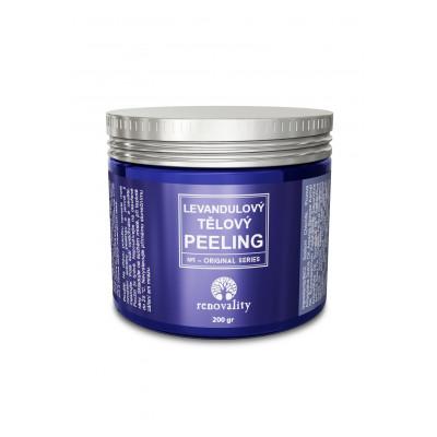 Levandulový tělový peeling 200 g Renovality