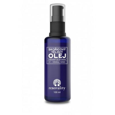 Skořicový tělový olej 100 ml s pipetkou Renovality